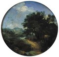 Classical figures in a pastoral landscape with some buildings beyond - (after) Claude Lorrain (Gellee)