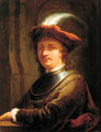Portrait of Rembrandt Harmensz. van Rijn (1606-1669) - (after) Christian Wilhelm Ernst Dietrich