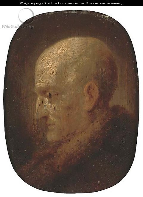 A head of an elderly bearded man - (after) Christian Wilhelm Ernst Dietrich