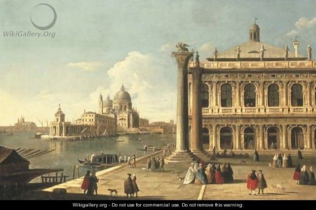 The Piazzetta di San Marco, Venice, with the Libreria - (after) Antonio Joli