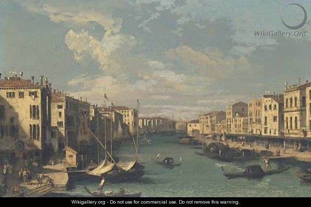 The Grand Canal, looking south-west from the Rialto Bridge to the Palazzo Foscari - (after) (Giovanni Antonio Canal) Canaletto