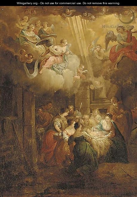 The Adoration of the Shepherds - (after) Balthasar Beschey