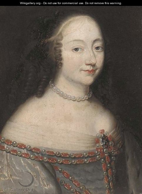 Portrait of lady - (after) Charles Beaubrun