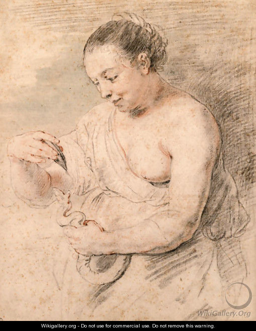 Hygieia with a serpent, after Rubens - (after) Watteau, Jean Antoine