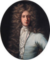 Portrait of John Taylor of Royston, half-length, in a blue coat and white stock - (after) Kneller, Sir Godfrey