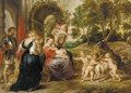 The Virgin of the Rose Garden - (after) Sir Peter Paul Rubens