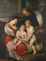 The Holy Family with the Infant Saint John the Baptist - (after) Sir Peter Paul Rubens