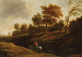A wooded landscape with a peasant on a cart-horse - (after) Sir Peter Paul Rubens