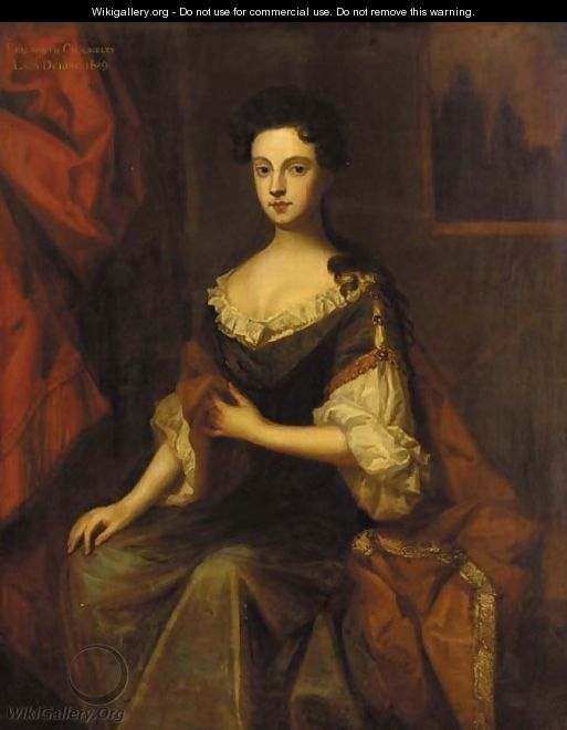 Portrait of Elizabeth Chomeley, Lady Dering - (after) Sir Peter Lely