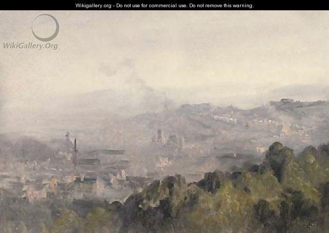 A panorama of Edinburgh - (after) Telemaco Signorini