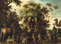 Aesopus and the animals in a landscape - (after) Roelandt Jacobsz Savery