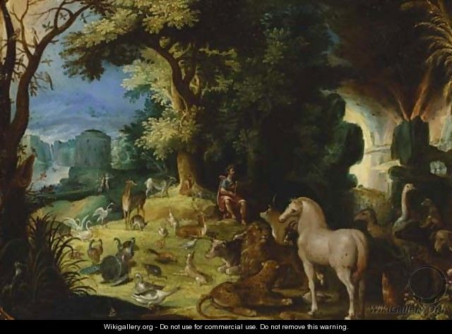 Orpheus charming the animals - (after) Roelandt Jacobsz Savery