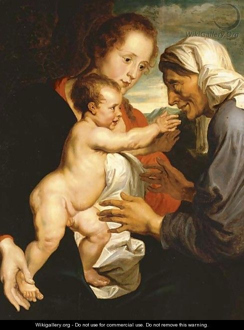 The Virgin and Child with Saint Anne - (after) Dyck, Sir Anthony van