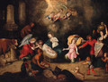 The Adoration of the Shepherds - (after) Simon De Vos