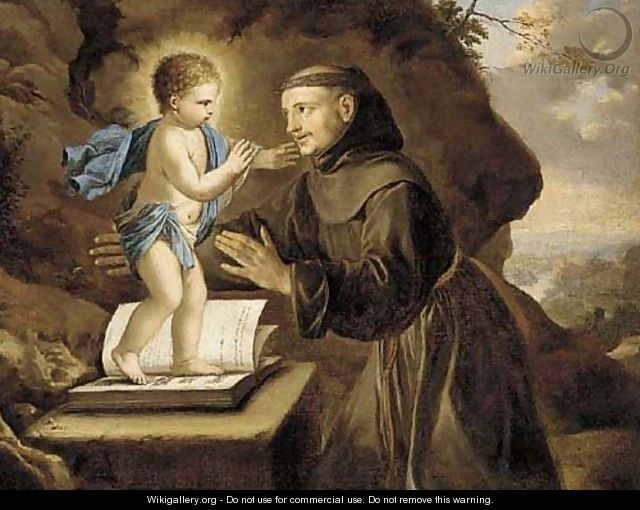 The vision of Saint Antony of Padua - (after) Philippe De Champaigne
