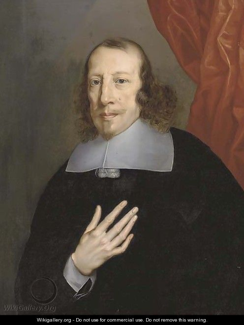 Portrait of a cleric - (after) Philippe De Champaigne