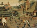 An allegory of spring - (after) Pieter The Younger Brueghel