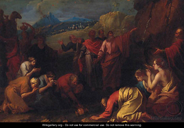 Moses striking the Rock - (after) Pierre-Jacques Cazes