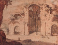 The Baths of Diocletian, Rome - (after) Pieter Pietersz. Lastman