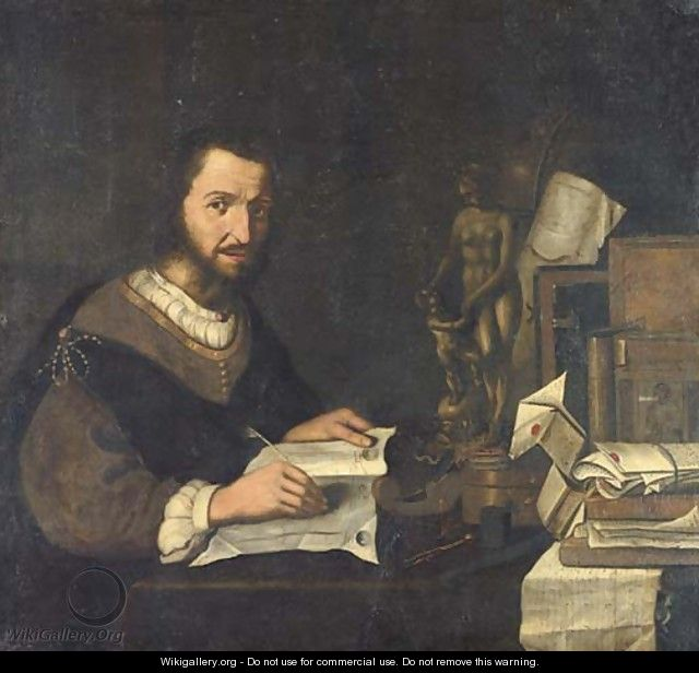 Portrait of a connoisseur - (after) Pieter Gerritsz. Van Roestraeten