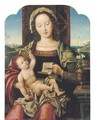The Virgin and Child Enthroned - (after) Pieter Coecke Van Aelst