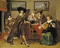 Elegant company in an interior - (after) Pieter Codde