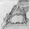 Figures supporting an arch A study for a ceiling - (after) Cortona, Pietro da (Berrettini)