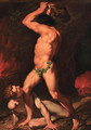 Hercules and Cacus - (after) Nicolas-Abraham Abilgaard
