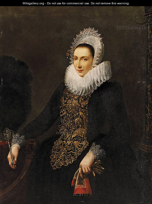 Portrait of a Lady - (after) Nicolaes (Pickenoy) Eliasz