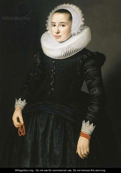 Portrait of a young lady - (after) Nicolaes (Pickenoy) Eliasz