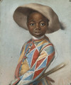 An African Page dressed as a Harlequin - (after) Louis Vigee