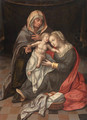 The Virgin and Child with Saint Anne - (after) Lambert Lombard