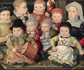 Group portrait of children - (after) Ludger Tom The Younger Ring