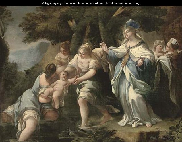The Finding of Moses - (after) Luca Giordano