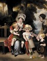 Portrait of a mother with her three children - (after) Margaret Sarah Carpenter
