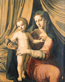 The Madonna and Child before a Curtain - (after) Marco Pino