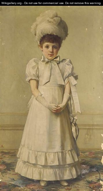 Portrait of a girl - (after) John Hanson Walker