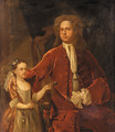 Portrait of a gentleman and his daughter - (after) John Smybert