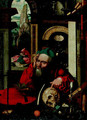 Saint Jerome in his study, a landscape beyond - (after) Cleve, Joos van