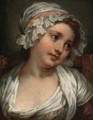 A young maid - (after) Jean Baptiste Greuze
