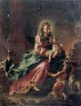 The Madonna with the Christ Child and the Infant Saint John the Baptist in an architectural setting - (after) Januarius Zick