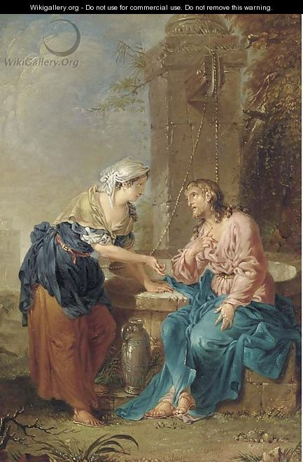 Christ and the Woman of Samaria - (after) Januarius Johann Rasso Zick