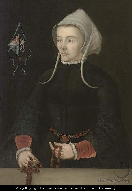 Portrait of a lady - (after) Jan Van Scorel
