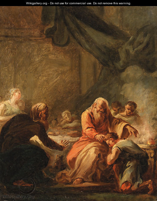 David anointed by Samuel - (after) Fragonard, Jean-Honore