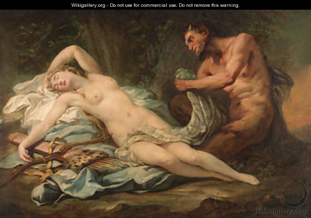 Jupiter and Antiope - (after) Jean-Baptiste Pierre