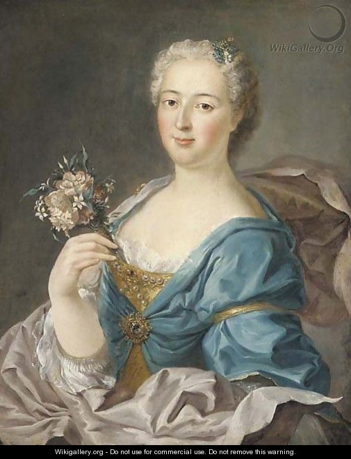 Portrait of Madame de Bourville - (after) Jean-Marc Nattier