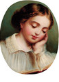 A young girl reading - (after) James Sant