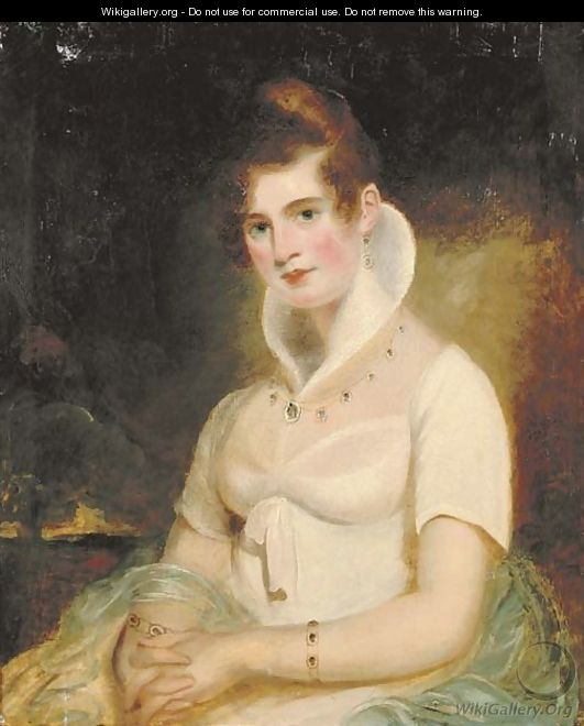 Portrait of a lady - (after) James Northcote