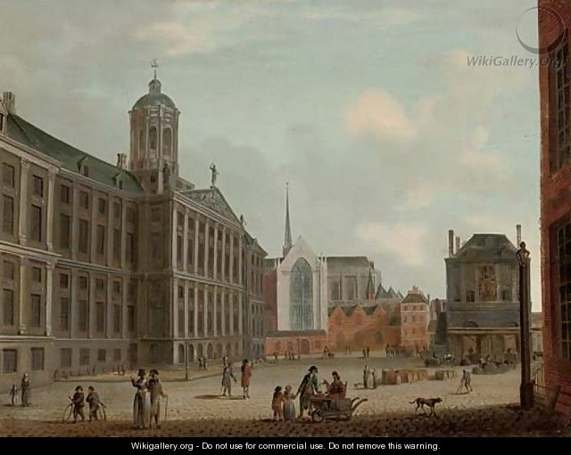 The Dam, Amsterdam, with the Town Hall and the Waag - (after) Jan The Elder Ekels