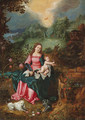 The Virgin and Child - (after) Jan, The Younger Brueghel